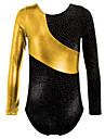Gold Foiled Print Toddler Girls Ballet Dance Leotards Spiling Gymnastics Crop Tops Dancewear for 3-16 Years Girls