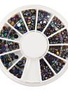 400pcs taille mixs art colore d\'ongle de diamant decorations