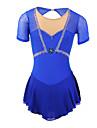 Robe de Patinage Femme Manches longues Patinage Jupes & Robes / Robes Robe de patinage artistique Elasthanne Bleu Tenue de Patinage