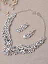 Bijuterii Coliere Σκουλαρίκια Seturi de bijuterii de mireasă Set Nuntă Petrecere 1set Dame Argint Cadouri de nunta