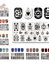 12 * 6cm rectangle ongles estampage plaques modele beau design manucure nail art image de timbre plaque ensemble