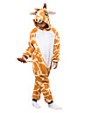Kigurumi Pyjamas Giraff Leotard/Onesie Festival/Högtid Animal Sovplagg Halloween Orange Enfärgat Polar Fleece För BarnHalloween Jul