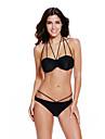 Femei Bikini Femei Solid Sutiene cu Bureți Polyester/Spandex