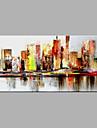 Peint a la main Abstrait Peintures a l\'huile,Moderne Un Panneau Toile Peinture a l\'huile Hang-peint For Decoration d\'interieur