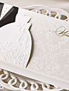 Personalization Laser Cut Wedding Invitations Cards Western Groom & Bride Customize Printable Envelopes Seals Wedding Party SupplIes-Set Of 50pcs