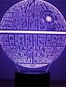 1pcs force eveille la lampe de table multicolore etoile de la mort 3d etoile de la mort lumiere bulbaison pour star wars les fans