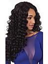 heta långt lockigt svart syntetisk l del spetsar peruker högsta kvalitet värmebeständigt syntetiskt hår för kvinnor