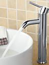 Contemporain Set de centre large spary with  Soupape ceramique Mitigeur un trou for  Chrome , Robinet lavabo