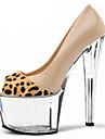Homme-Mariage Habille Soiree & Evenement-Nu-Talon Aiguille Plateforme-Confort Nouveaute club de Chaussures-Chaussures a Talons-