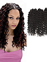 djup Twist Pre-loop Virka Braids Hårförlängningar 16Inch Kanekalon 1 Pack for a Full Head Strå 203g gram Hair Braids