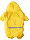 Câine Haină de ploaie Îmbrăcăminte Câini Impermeabil Sport Solid Galben Rosu Albastru Culoare Camuflaj