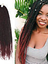 Senegal twist Flätor Hårförlängningar 20Inch Kanekalon 35 Strands (Recommended By 3 Packs for a Full Head) Strå 98g gram Hair Braids