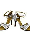 Latin Salsa-Pantofi de dans(Negru Argintiu Auriu) -Personalizabili-Damă