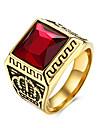 Inele Zilnic Casual Bijuterii Teak Oțel titan Hârtie Reciclabilă Bărbați Inel 1 buc,9 10 11 Negru Roșu
