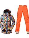 Sportif Tenue de Ski Anorak pour Ski/snowboard Femme Tenue d\'Hiver Polyester Vetement d\'HiverEtanche Respirable Garder au chaud Pare-vent