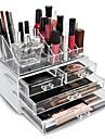Sminkförvaring Makeup-låda / Sminkförvaring Plast / Akrylfiber Enfärgat Övrigt 24*15*18.6 Bisque