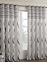 Två paneler Fönster Behandling Barock Sovrum Polyester Material gardiner draperier Hem-dekoration For Fönster