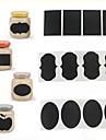 36pcs craie etiquettes autocollantes stylo tableau noir vinyle pot de cuisine des autocollants de decoration 5cm x 3.5cm