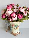 1 Une succursale Polyester Pivoines Fleur de Table Fleurs artificielles 10