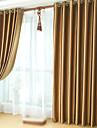 Deux Panneaux Le traitement de fenetre Neoclassique , Solide Chambre a coucher Polyester Materiel Rideaux occultants rideauxDecoration