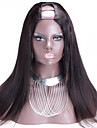 Vente en gros 150% de lumiere de densite yaki brazilian upart perruque remy yaki vierge partie u de cheveux perruque couleur naturelle