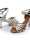 Går att specialbeställas Dam Dansskor Satäng Konstläder Satäng Konstläder Latinamerikansk Sandaler Individuellt anpassad klack Inomhus