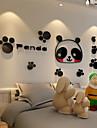 Djur Väggklistermärken Väggstickers i 3D Dekrativa Väggstickers,Vinyl Material Hem-dekoration vägg~~POS=TRUNC