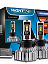 2pcs nighteye / set h7 70w super bright / set 9000lm 6000k dc8-48v voiture conduit phares ampoule kit de conversion de brouillard