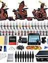 Kit de tatouage complet 3 machine x tatouage en alliage pour la doublure et l\'ombrage 3 Machines de tatouage LCD alimentationEncres