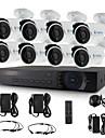 yanse® 8ch 720p CCTV-kamera säkerhetssystem d / n ir 24led bullet vattentät AHD dvr kit