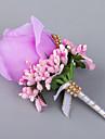 Flori de Nuntă Formă liberă Trandafiri Butoniere Nuntă Petrecere / Seară Satin Satin Elasticizat