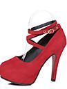 Femme Chaussures a Talons Confort Polyurethane Printemps Ete Decontracte Habille Confort Talon Aiguille Noir Rouge Bleu 5 a 7 cm