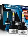 nighteye 1 paire 72W h1 torchis conduit ampoule de phare de voiture blanche lumiere 6500k 9000lm conduite lampe frontale feu de route