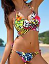 Femei Bikini Femei Bustieră Floral Boho Polyester
