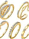 Dame Seturi de bijuterii Inel Design Unic Iubire Inimă Geometric La modă Adorabil European Zirconiu Zirconiu Cubic Articole de ceramică
