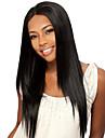 sexy femmes longue perruque mode couleur noire perruque droite naturelle