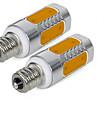 3W E12 Becuri LED Corn 5 COB 300 lm Alb Cald Alb Rece V 2 bc