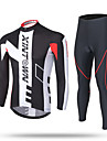 XINTOWN Maillot et Cuissard Long de Cyclisme Homme Manches longues Velo Pantalon/Surpantalon Survetement Haut Zippe Maillot Hauts/Tops Bas