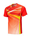 Homme Manches courtes Course / Running Hauts/Tops Respirable Confortable Ete Vetements de sport Badminton Polyester Ample Couleur Pleine