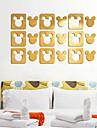 Forme Stickers muraux Miroirs Muraux Autocollants Autocollants muraux decoratifs,Verre Materiel Decoration d\'interieur Calque Mural