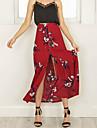 Fuste-Leagăn Sirenă FloralIeșire Casul/Zilnic Nuntă Vintage Simplu Șic Stradă-Talie Inaltă Midi Elasticity Polyester Elastic vară