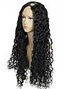 ondule eau upart perruque couleur # 1 jet noir 1 partie * 4inch gauche u partie des cheveux humains perruques 180% la densite de cheveux