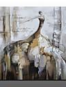 Peint a la main Abstrait Portraits Abstraits Horizontale,Moderne Style europeen Un Panneau Peinture a l\'huile Hang-peint For Decoration