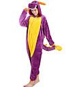 Kigurumi Pyjamas drake Trikå/Onesie Festival/högtid Pyjamas med djur halloween Purpur Djurmönster Flanell Cosplay Kostymer/Dräkter För