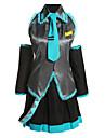 Inspire par Vocaloid Hatsune Miku Video Jeu Costumes de Cosplay Costumes Cosplay Robes Mosaique Noir Bleu Violet Sans ManchesChemisier