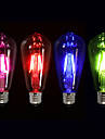 4W E26/E27 Ampoules a Filament LED ST64 4 COB 400 lm Vert Rose Rouge Bleu Gradable Decorative AC 100-240 V 1 piece