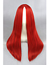 cosplay moyennes a long 24inch synthetique rouge droites anime wigcs-234d