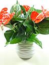1 Une succursale Plastique Polyurethane Plantes Fleur de Table Fleurs artificielles 20*32