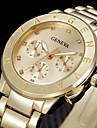 pentru Doamne Ceas La Modă Ceas de Mână Quartz Ștras Oțel inoxidabil Bandă Cool Argint Auriu Auriu Argintiu Trandafiriu