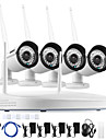 ANNKE® 4CH CCTV System Wireless 960P NVR 4PCS 1.3MP IR Outdoor P2P Wifi IP CCTV Security Camera